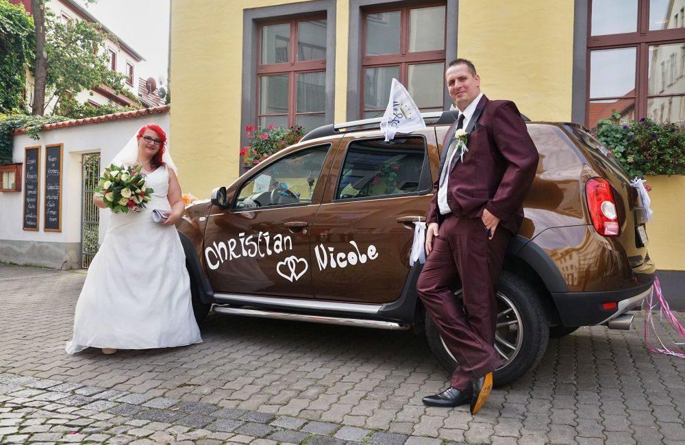 Christian und Nicole Im Hochzeitsglück